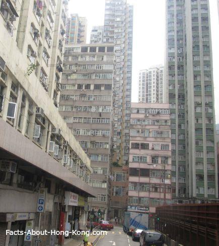 Apartment buildings in Sheung Wan, Hong Kong