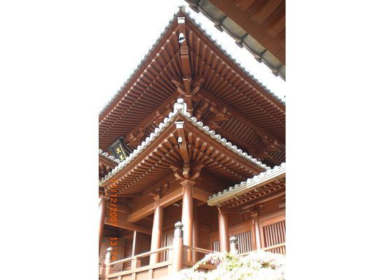 Roof of the buildings in Chi Lin Nunnery with intricate wood joinery