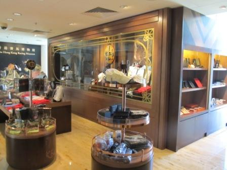 Hong Kong Jockey Club sourvenior shop before stepping into the Hong Kong Racing Museum