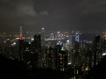 The Hong Kong Skyline from the Lion Gazebo Lookout.