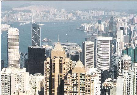 Hong Kong Skyline - Lookout from the Peak