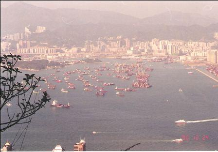 Hong Kong Skyline - Lookout from the Peak, Eastern Kowloon