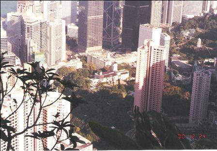 Hong Kong Skyline - Lookout from the Peak, Former Governor's House