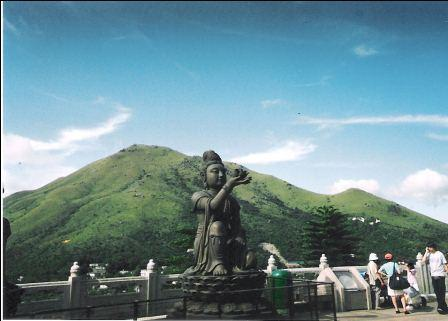One of the statues around the Hong Kong Giant Buddha