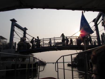 Leaving the Tai O Fishing Village and heading to the ocean for the Chinese Pink Dolphins watch