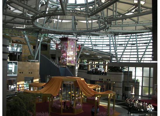 The world's biggest lantern looks pretty small compared to the mall's exhibition area