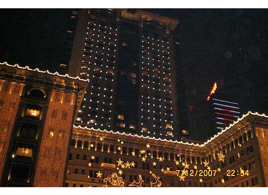 Hong Kong Peninsula Hotel in Christma
