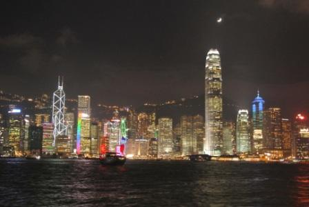 Hong Kong Skyline/Symphony of Lights in Central