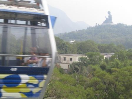 As you get closer to Hong Kong Ngong Ping 360 village, the Giant Buddha is getting bigger and closer in front of you