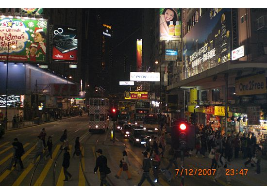 Shopping Late at Night in Hong Kon