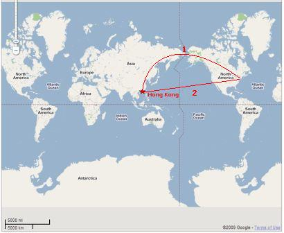 Superior Which Is The Correct Route That The Plane Flies From East Coast, U.S. To Hong  Kong?